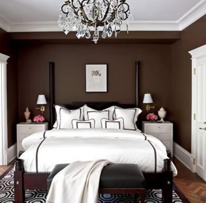 تصميم غرفة نوم بني فاخرة | المرسال