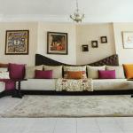 تصميم لمجلس مغربي باللون البيج والبني - 28829