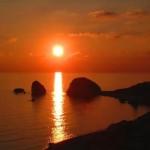جمال الغروب في قبرص