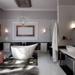 فخامة اللون الأسود في حمامات 2014