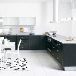 مطابخ الوميتال باللون الأسود