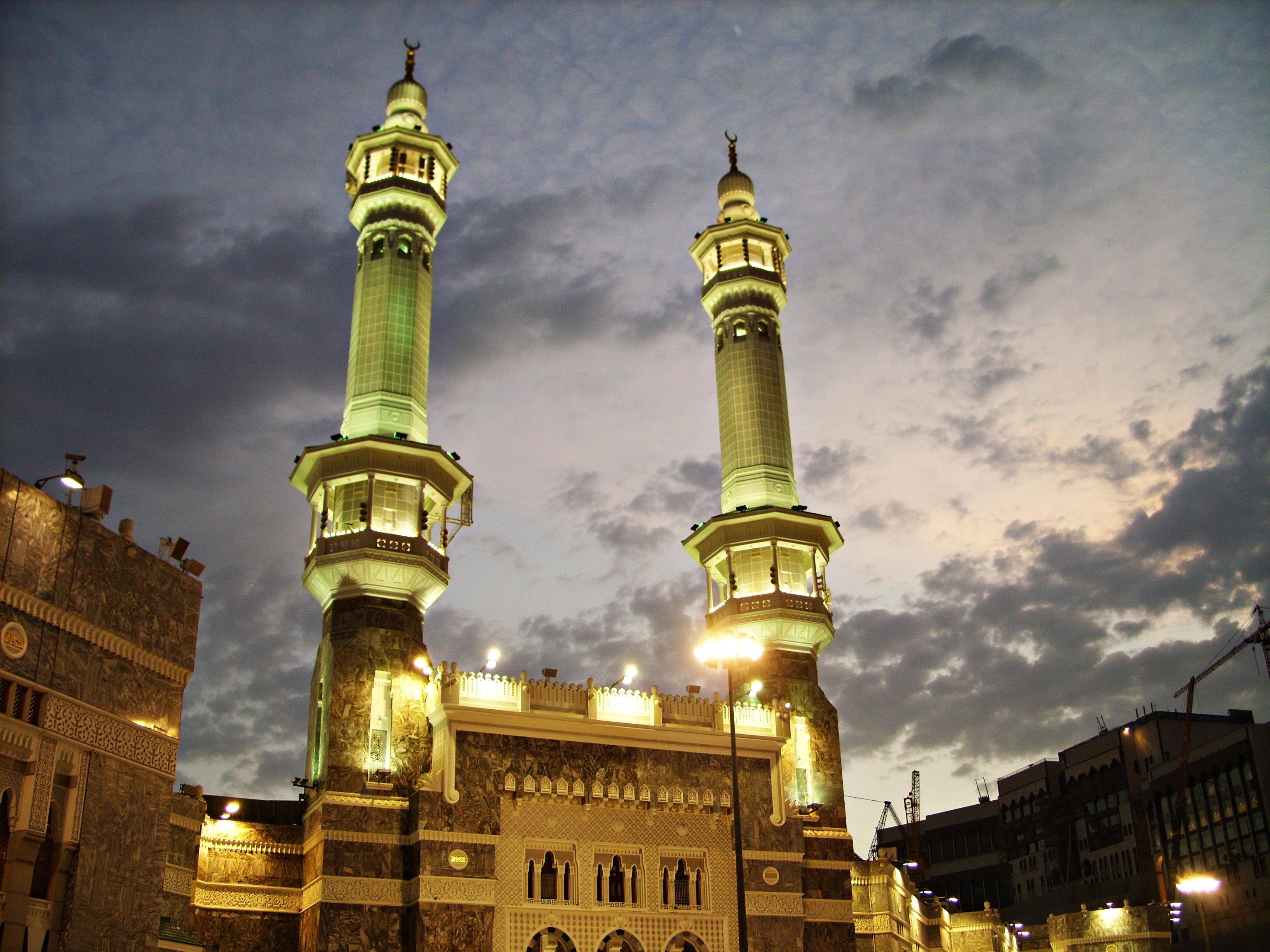 مآذن المسجد الحرام