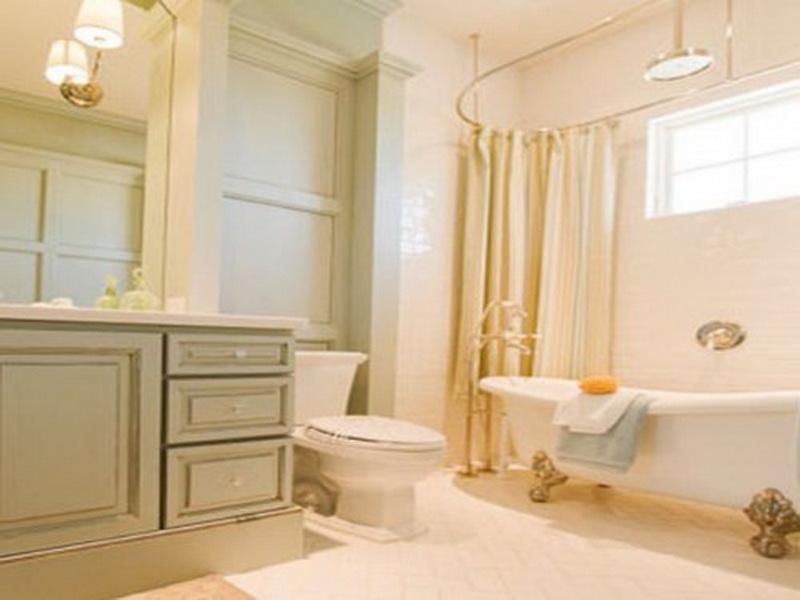 Cream bathroom makeovers for small bathrooms