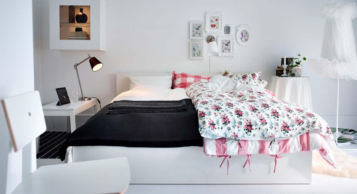 غرف نوم ابيض من ايكيا   المرسال