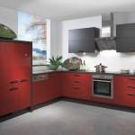 مطبخ الوميتال باللون الأحمر