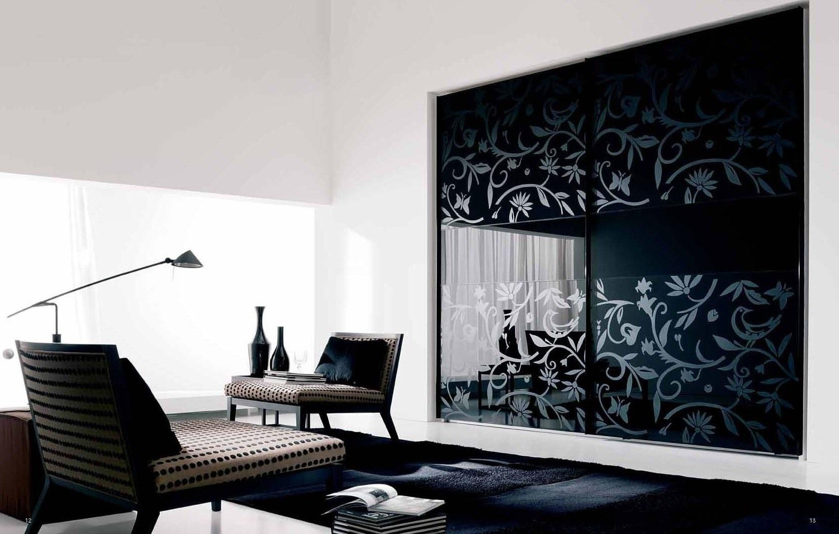 تصاميم غرف نوم مودرن بالزجاج المطبوع المميز | المرسال