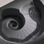 تصاميم احواض حمامات باللون الرمادى - 32953