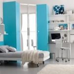 تصميم باللون اللبني والأبيض لغرف نوم الشباب