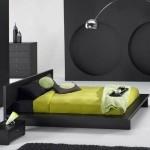 فخامة اللون الأسود في غرف نوم الشباب