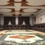 مجالس مغربية باللون البني - 28834