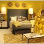 دهان غرفة نوم صفراء فاخرة
