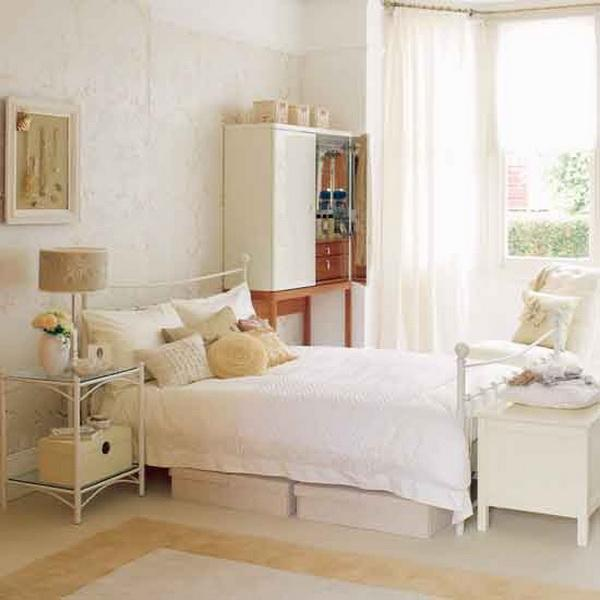 تصاميم غرفة نوم ايكيا بيضاء هادئة | المرسال