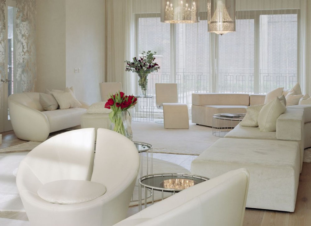 White-luxury-living-room | المرسال