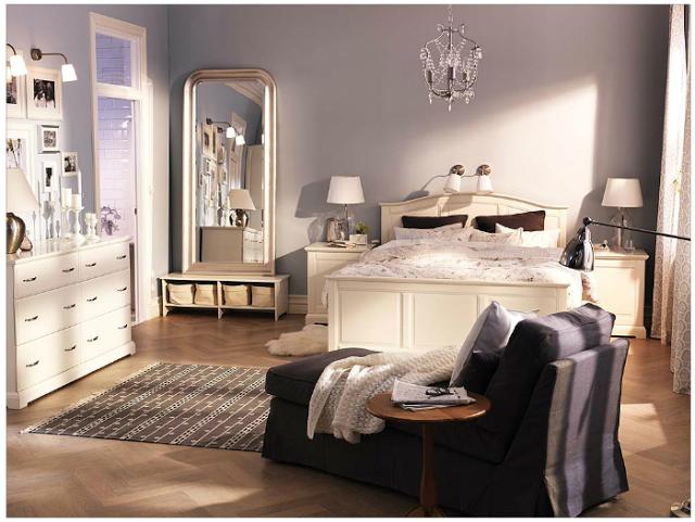 : غرف نوم كلاسيكية بيضاء : غرف