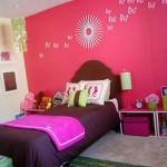 تصميم لغرفة نوم بنات 2014 بألوان جذابة