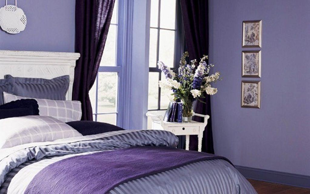 تصميم دهانات غرف نوم الأرجواني | المرسال