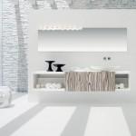 أفكار للحمامات رائعة وحصرية باللون الأبيض