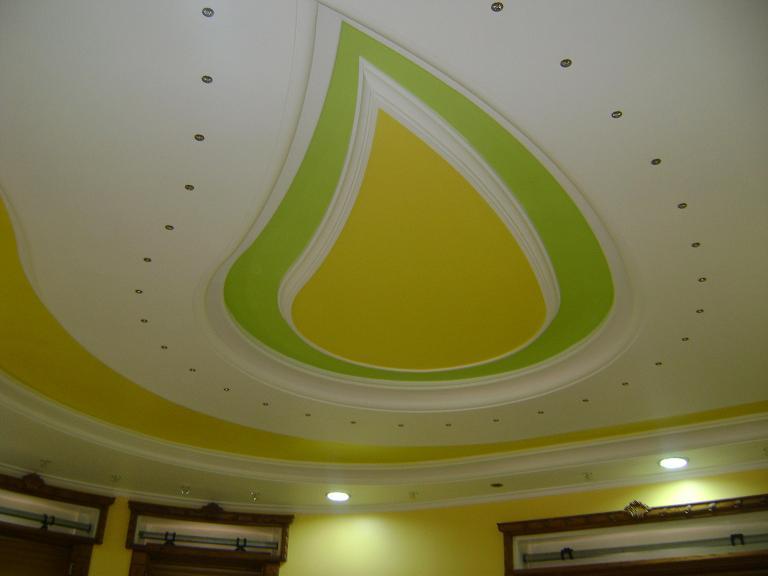 تصميم أسقف جبسية علي شكل قطرة