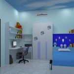تصميم مميز لغرف نوم بنات 2014