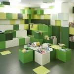 مكاتب منزلية ملونة