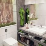 افكار لتزيين الحمامات الصغيرة