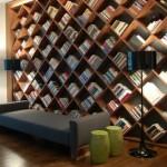 مكتبة منزلية مربعات