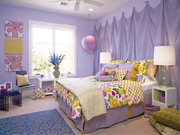 غرف نوم اطفال باللون الموف المرسال