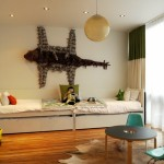 غرفة نوم أطفال بسيطة
