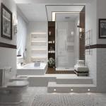 تصميم هادئ لأحدث حمامات 2014
