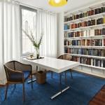 تصميم بسيط للمكتبات المنزلية