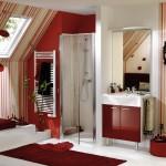 تصاميم حمامات باللون الأحمر