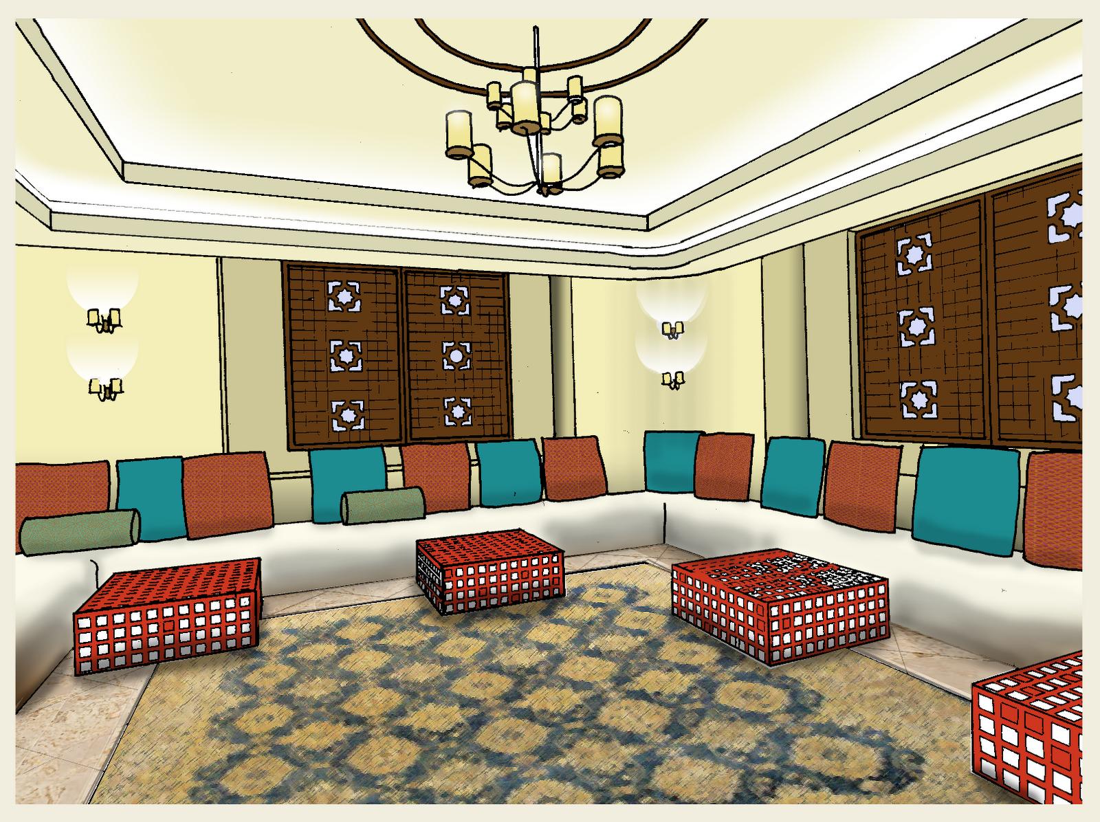 نموذج تصميم غرفة مجالس جميلة | المرسال
