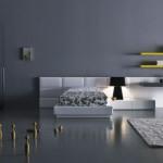 تصميم باللون الأبيض والأسود لغرف نوم شبابية