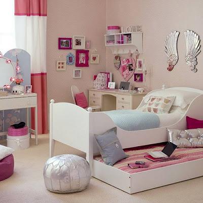 غرفة نوم بنات 2014 باللون الأبيض | المرسال