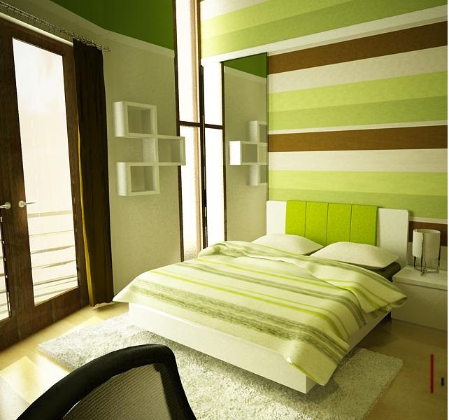 غرف نوم باللون الاخضر | المرسال