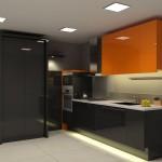 مطبخ فخم باللون الأسود 2014