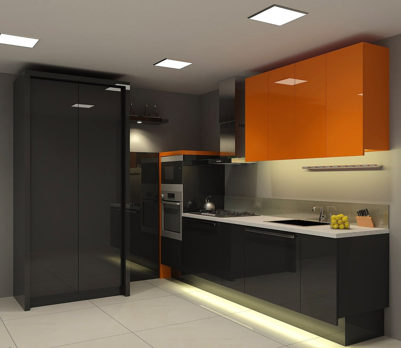New Home Designs Latest Modern Home Kitchen Cabinet: مطابخ 2014 الفخمة