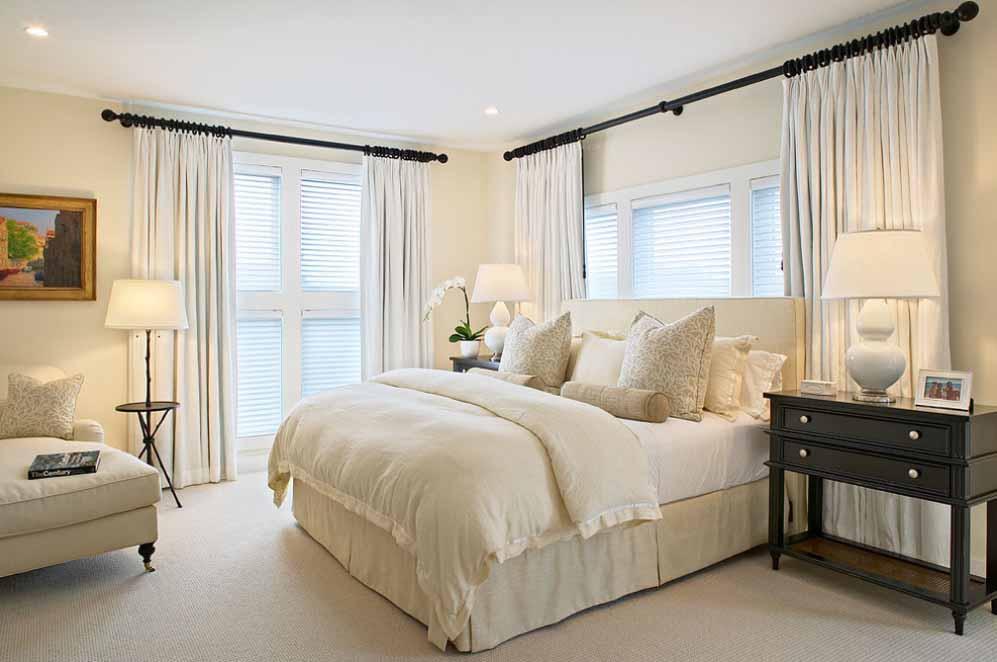 غرف نوم كلاسيك لون ابيض | المرسال
