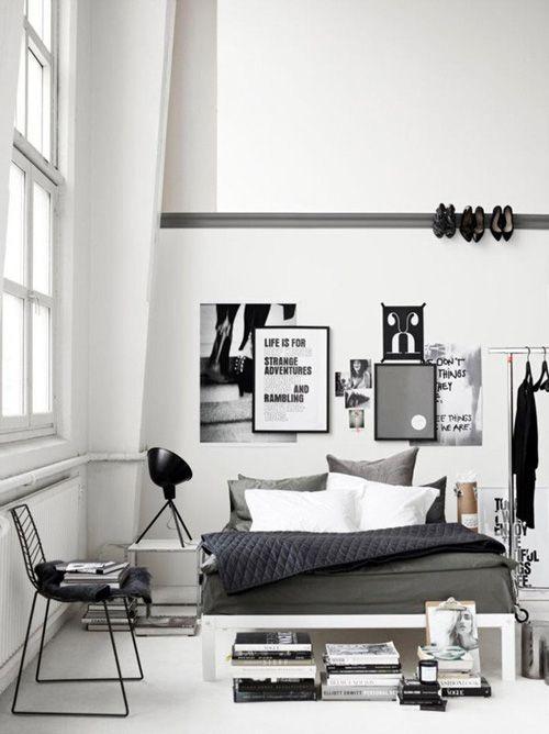 تصاميم غرف نوم ابيض واسود مميزة | المرسال