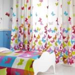 تصميم ستارة غرفة اطفال الفراشات