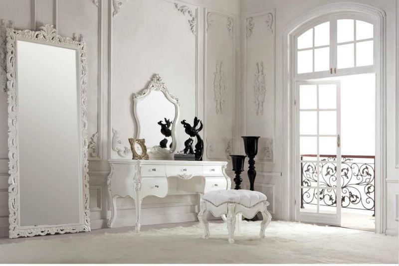 تصميم غرف نوم كلاسيك لون ابيض جميلة المرسال