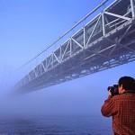 صورة للجسر مغطي بالضباب - 39090