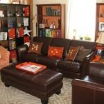 تصميم غرف معيشة باللون البني رائعة - 42420