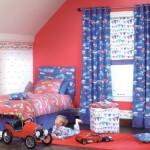 ستارة غرفة اطفال باللون الأزرق