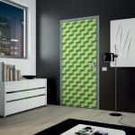 تصميم باللون الأخضر لأبواب الغرف المودرن