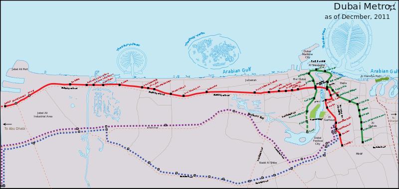 خريطة مترو دبي