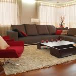 تصميم غرف معيشة باللون البني هادئة - 42422