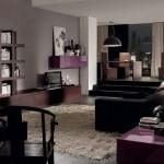تصميم غرف معيشة باللون البني واسعة - 42425