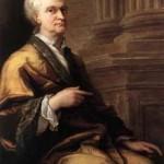 إسحاق نيوتن في سن الشيخوخة في 1712، صورة من قبل السير جيمس ثورنهيل  - 37362