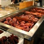 الأخطبوط في تسوكيجي سوق السمك